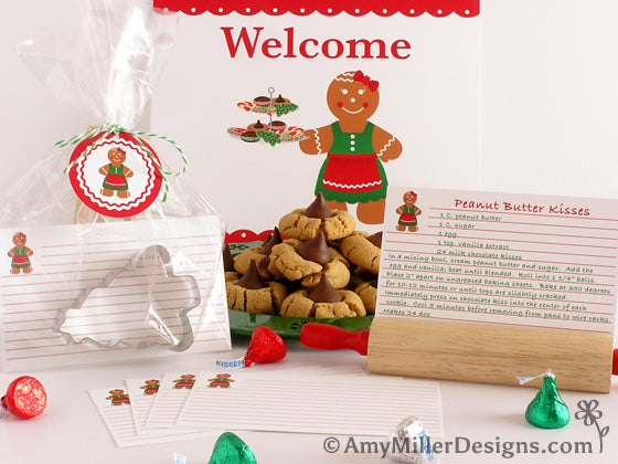 Cookie Swap Gingerbread Woman Themed Printables by Amy Miller Designs
