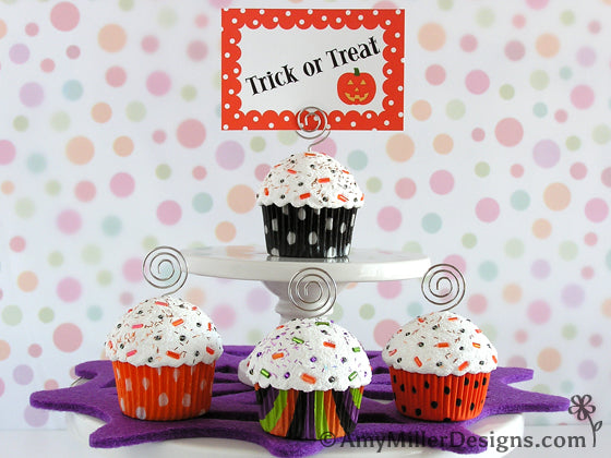 Halloween Cupcake Note Holders by Amy Miller Designs