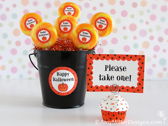 Halloween Faux Cupcake Note Holder by Amy Miller Designs