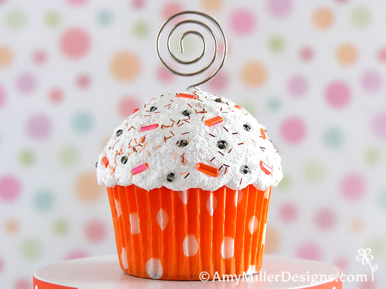 Halloween Cupcake Note Card Holder by Amy Miller Designs