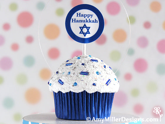 Hanukkah Cupcake Ornament Decoration