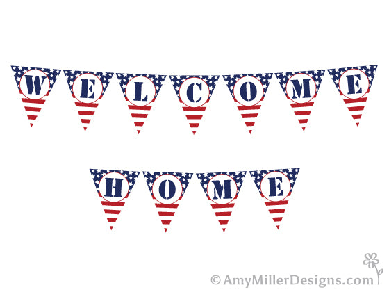 picture about Welcome Home Banner Printable known as Absolutely free Navy Welcome Dwelling Printables Amy Miller Strategies