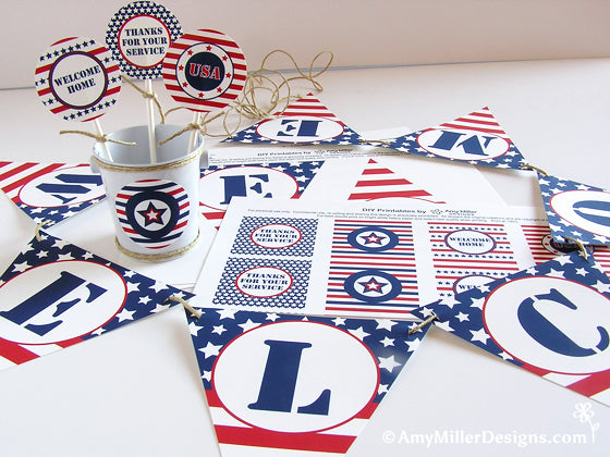 Military Welcome Home Printables