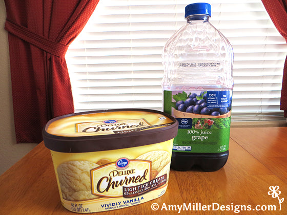 Purple Cow (ice cream and grape juice) by Amy Miller Designs