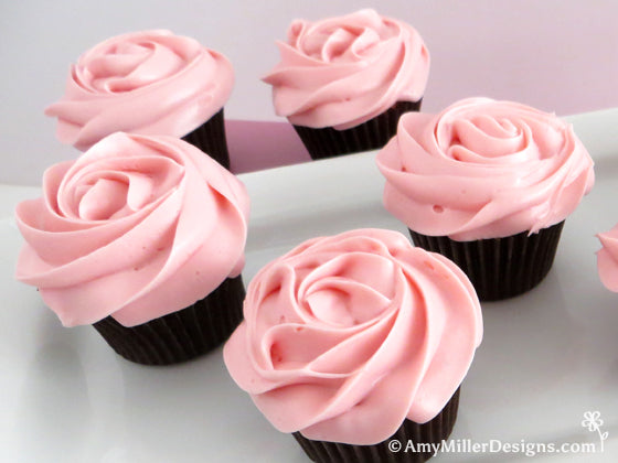 Rose Cupcakes by Amy Miller Designs