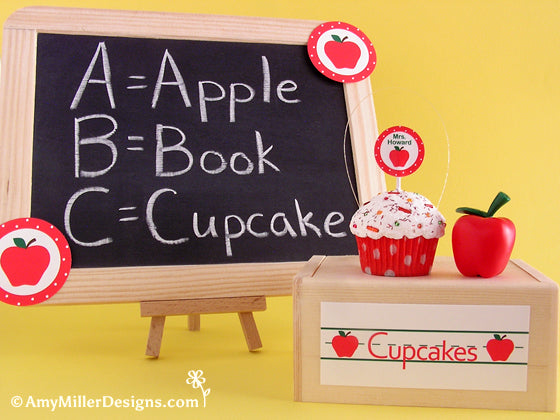 Teachers cupcake gift by Amy Miller Designs