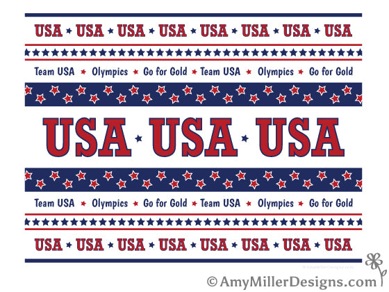 USA Olympics Free Printable by Amy Miller Designs