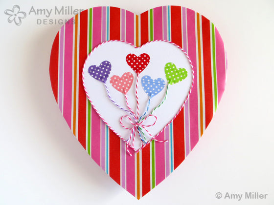 Valentine's Day Chocolate Heart Boxes Heart Balloon Theme