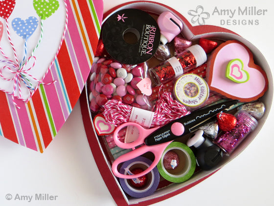 Valentine's Day Chocolate Heart Boxes Heart Balloon Craft Theme