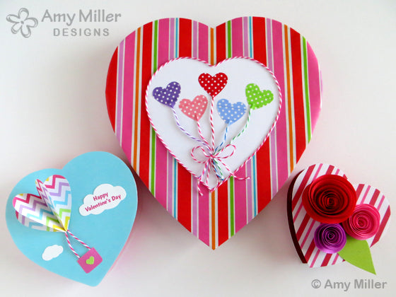 Valentine's Day Chocolate Heart Box Designs Group3