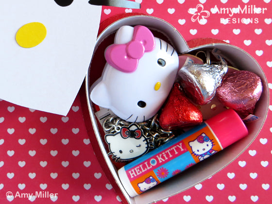 Valentine's Day Chocolate Heart Box Hello Kitty Theme Inside
