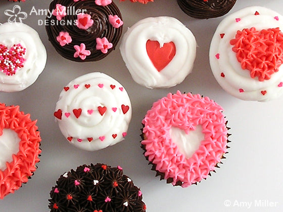 Valentines Day Cupcakes Closeup
