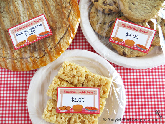 Bake Sale and Farmers Market Price Tag Labels | Amy Miller Designs