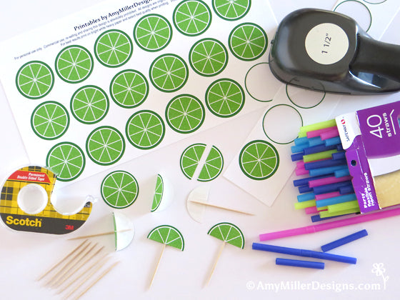 Free Printable Lime Wedge from Amy Miller Designs
