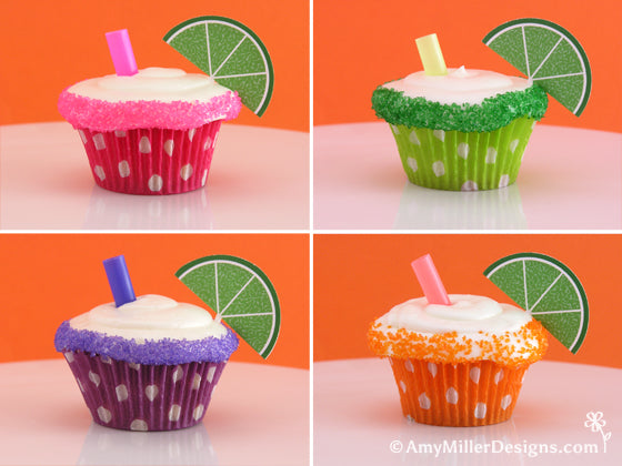 Mini Margarita Cupcakes from Amy Miller Designs