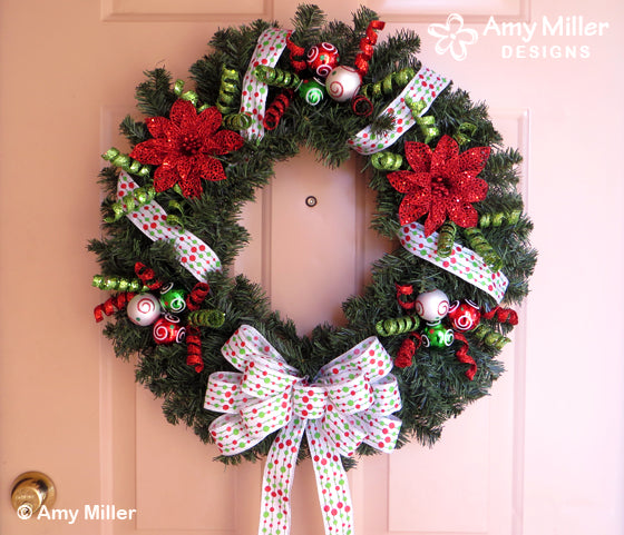 Christmas Wreath from Amy Miller Designs