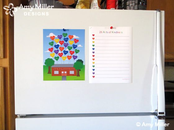 Sandy Hook Artwork Refrigerator