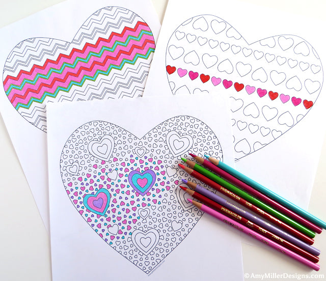 Free Valentine's Day Heart Coloring Pages