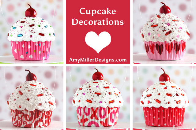 Valentines cupcake decorations