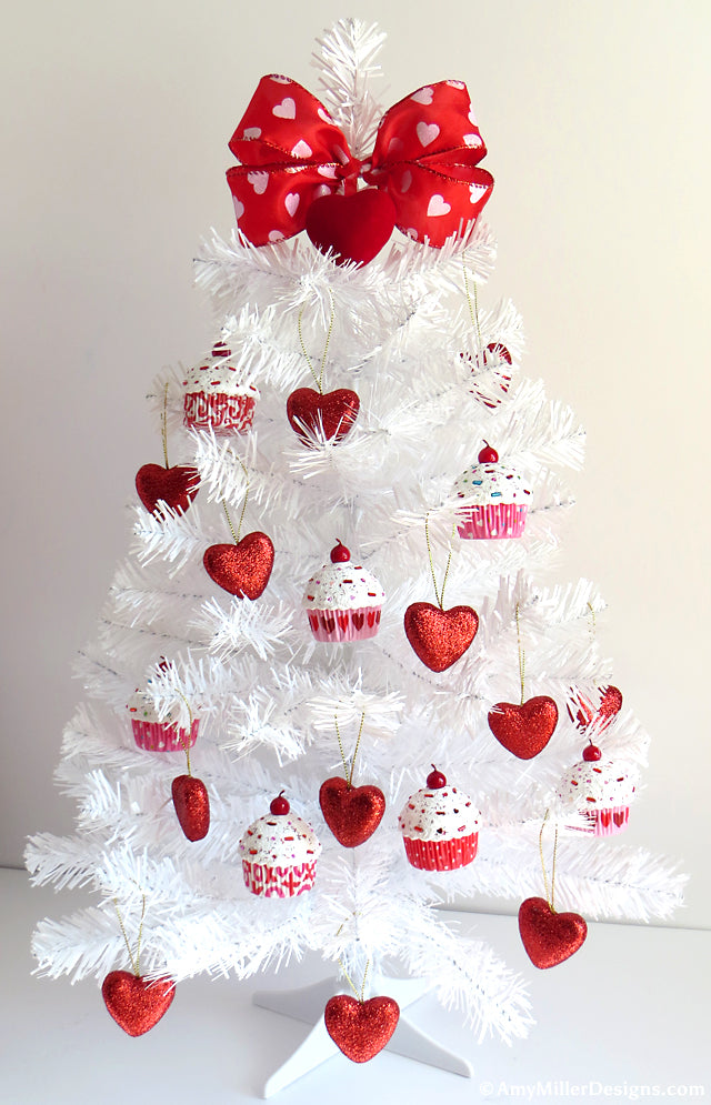 white valentine's day tree
