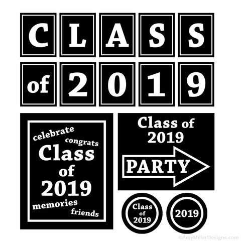 2019 Graduation Printable Decorations