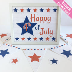 4th of July Instant Download Decorations