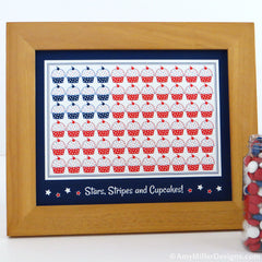 4th of July Cupcake Flag Art Print