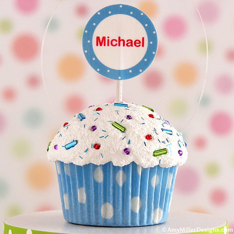 Personalized Mini Faux Cupcake Decoration