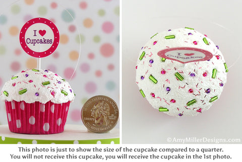 Cupcake Christmas Ornament Comparison