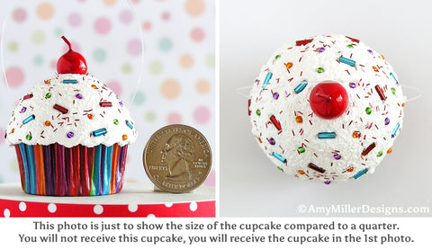 Cupcake Ornament Size Comparison