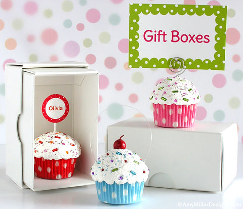 Gift Box for Mini Faux Cupcake Decorations