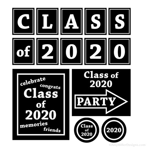 Class of 2020 Graduation Printable Decorations