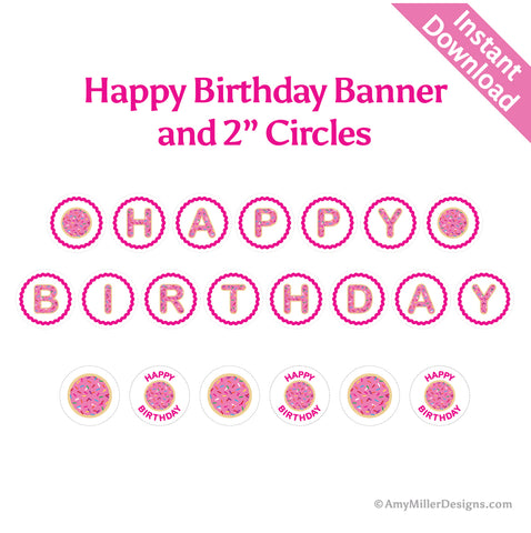 Happy Birthday Sugar Cookie Banner