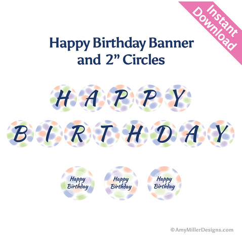 Happy Birthday Watercolor Banner