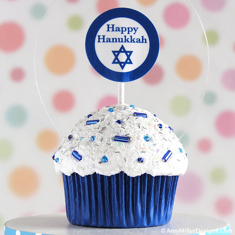 Hanukkah Mini Faux Cupcake Ornament