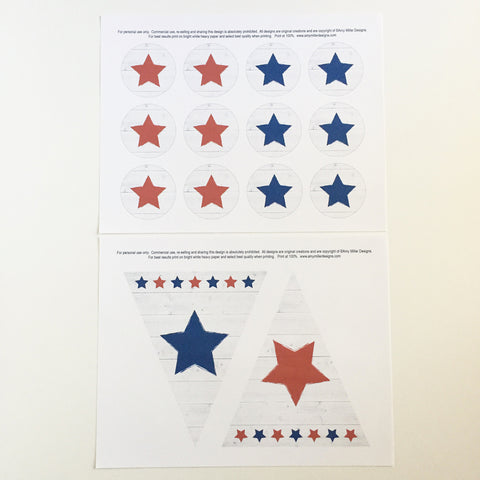 July 4th Banner Instant Download