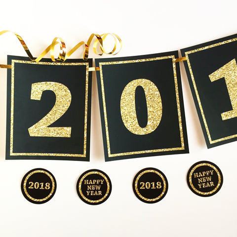 New Years Eve 2019 Banner and Circle Tags