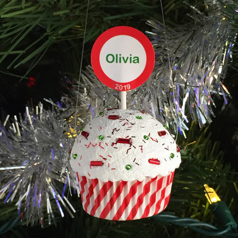 Personalized Christmas Ornament - Cupcake
