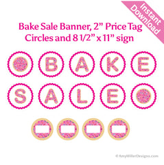Pink Sugar Cookie Bake Sale Banner