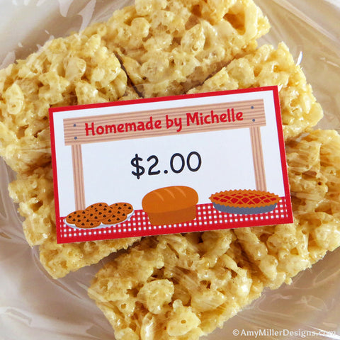 Personalized Bake Sale and Farmers Market Labels