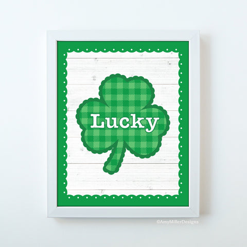 St. Patrick's Day Lucky Shamrock Art Work