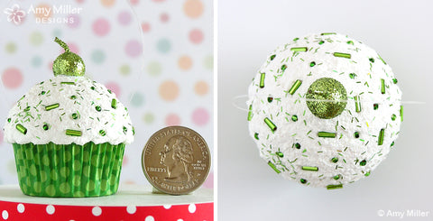 St Patrick's Day Cupcake Ornament