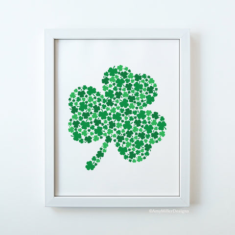 St. Patrick's Day Shamrock Art Work