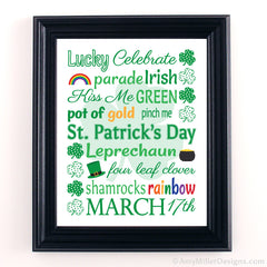 St. Patrick's Day Subway Art Print