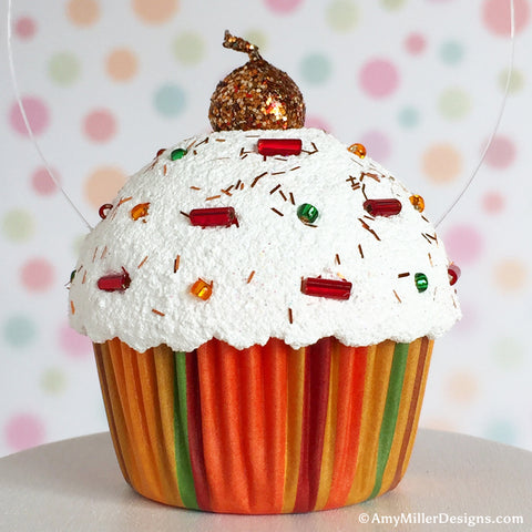 Thanksgiving Tree Cupcake Ornament