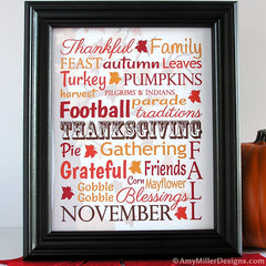 Thanksgiving Day Subway Art Print