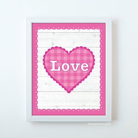 Valentine's Day Love Heart Art Print