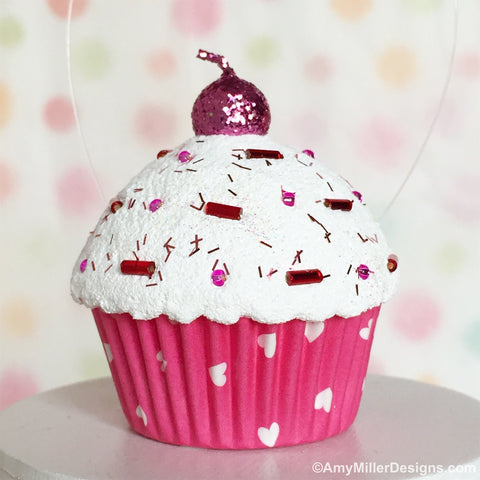Valentine's Day Tree Cupcake Ornament