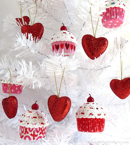 Valentine's Day Tree and Ornaments