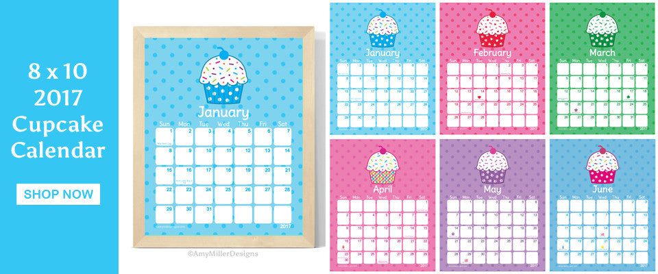CUTE Art Prints, Invitations, Fake Cupcakes - Amy Miller Designs